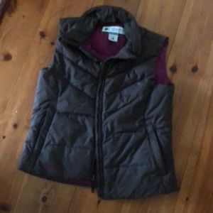 Columbia Brown & Pink Down Quilted Vest